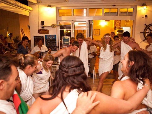 Make time to party on your Greece sailing trip