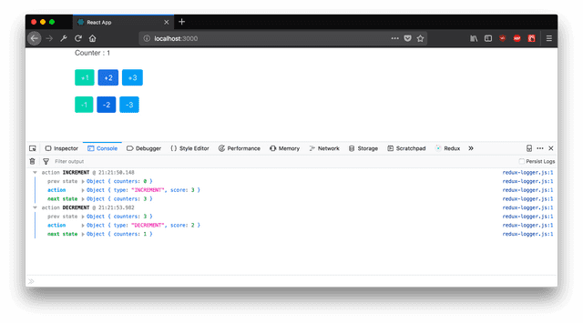 with Redux Logger