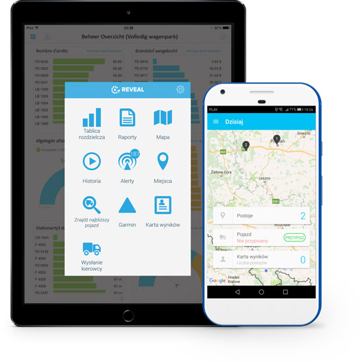 Devices fleet tracking app pl