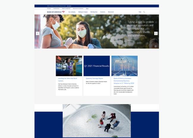 Desktop view of About website