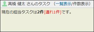 タスク欄を件数表示で確認している画像