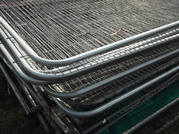 Stack of Heras Fencing