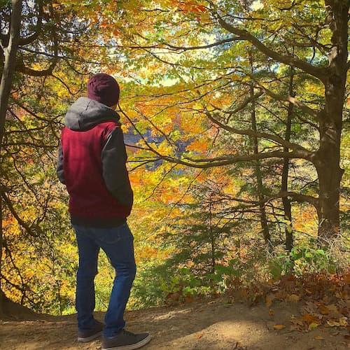 photo of jake deichert in a forest