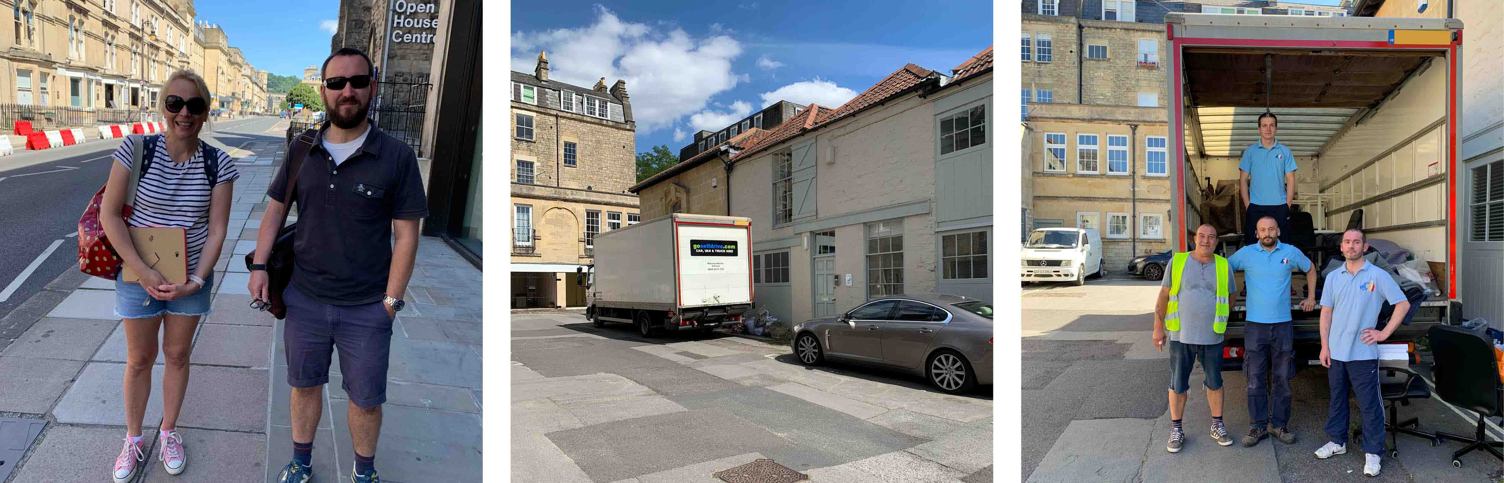 James and Rebecca oversaw the Seccl office move from Pulteney Mews to Manvers Street...