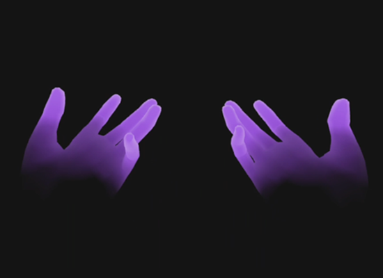 Phantom hands display for hand tracking in VR.