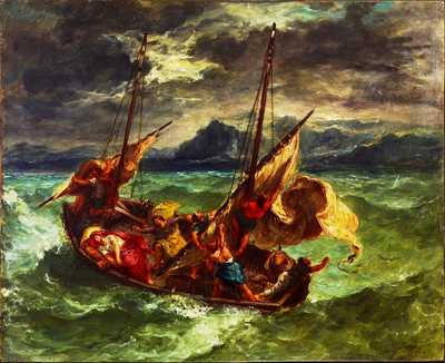Christ on the Sea of Galilee, painted by Eugene Delacroix in 1854