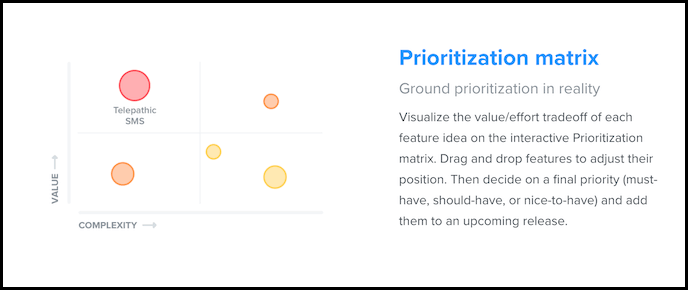 screenshot from productboard