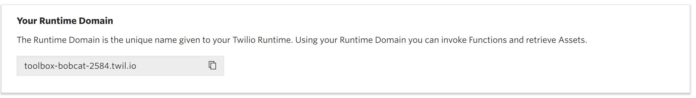 Twilio Runtime