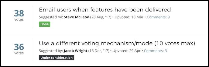 screenshot to show status tags