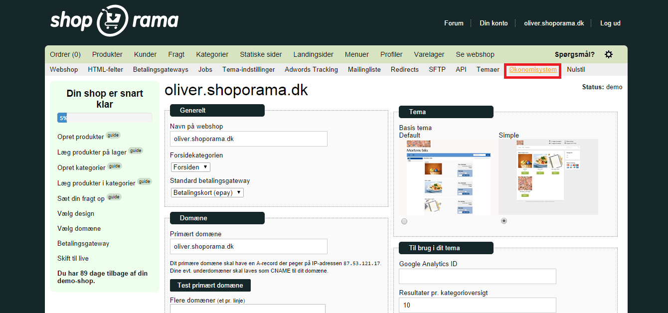 Integration med ShopOrama