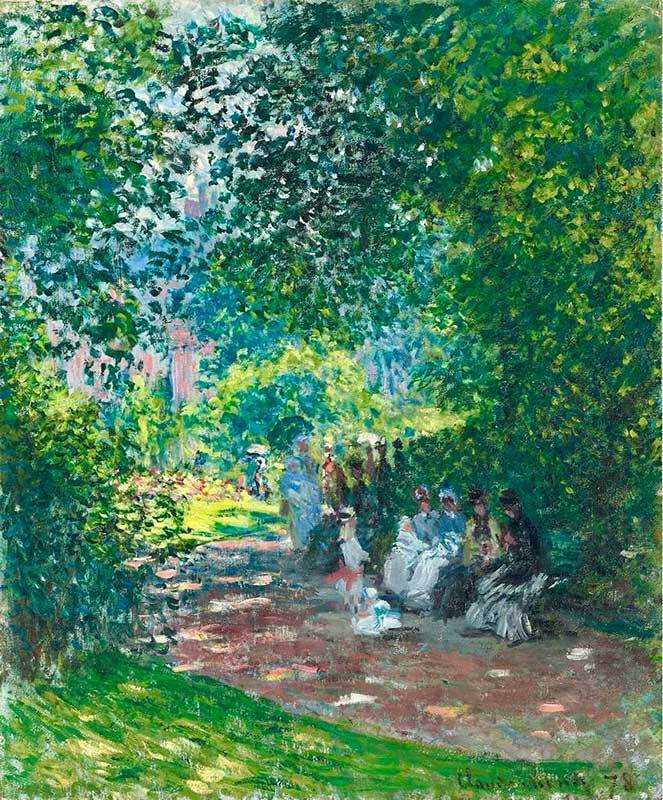 Monet's Au Parc Monceau was sold by Christie's London for £6.3 million in June 2009