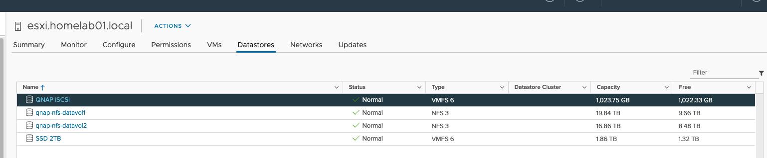 Configure Qnap iSCSI as VMware Datastore - 19