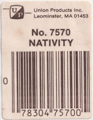 Union Products Nativity #7570 Sticker preview