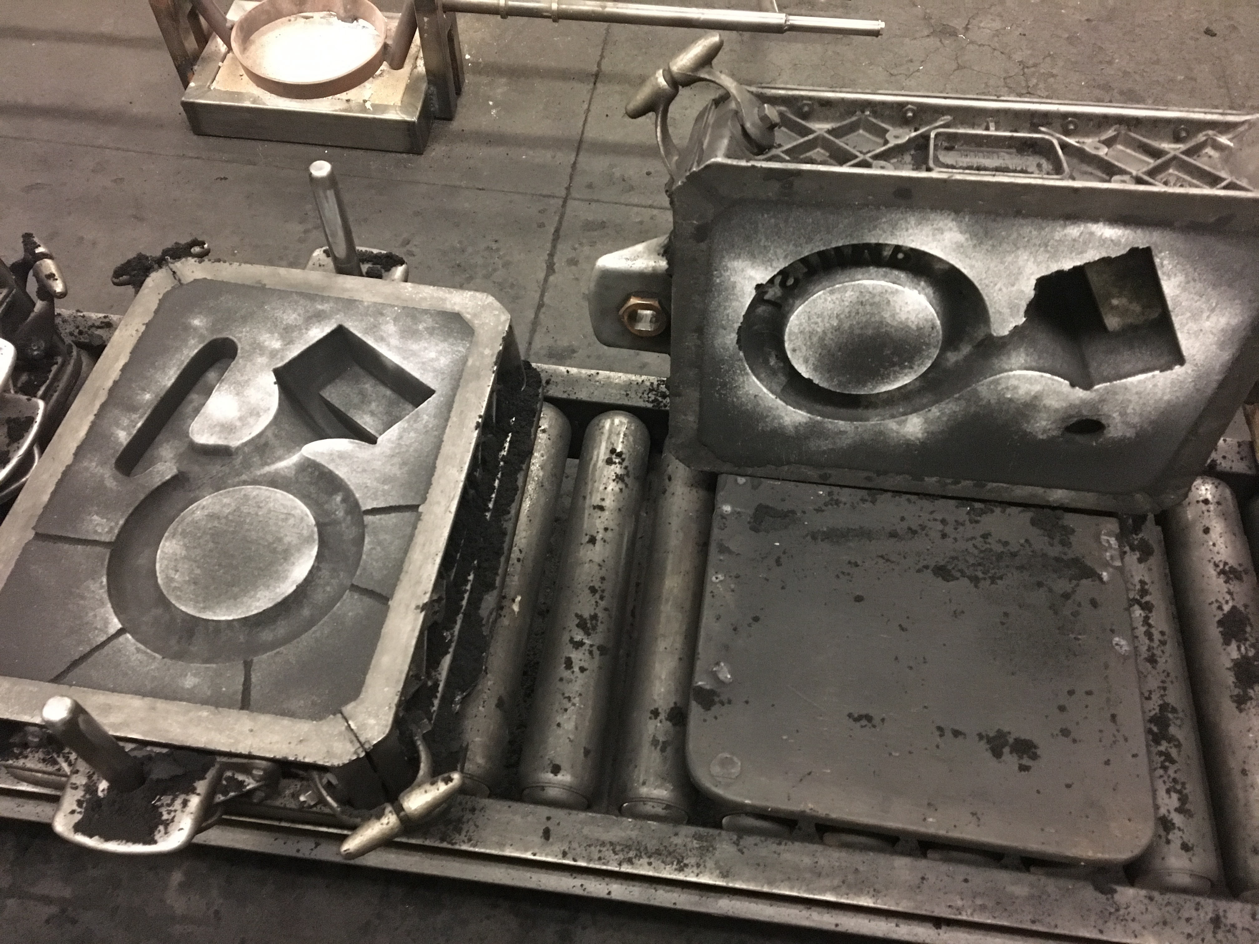 Completed mold, without the core