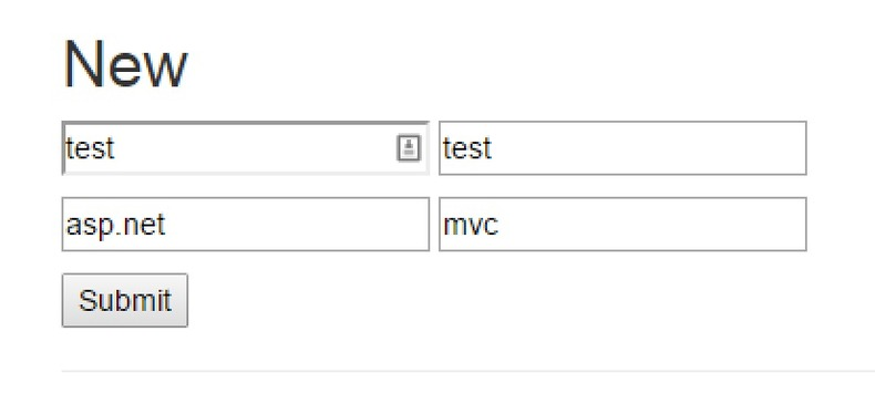 form with dynamic key values