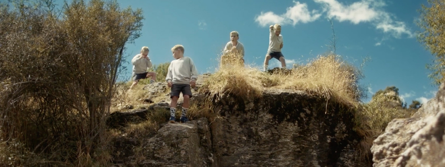 Born To Move campaign still of boys on cliff