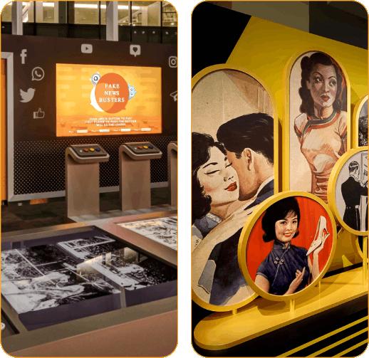 Photos of exhibitions