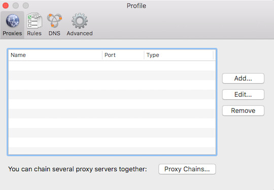 Step 2 on how to set un SOCKS5 proxies in Proxifier
