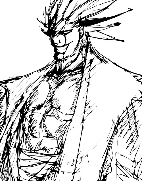 Kenpachi Alternate Sketch