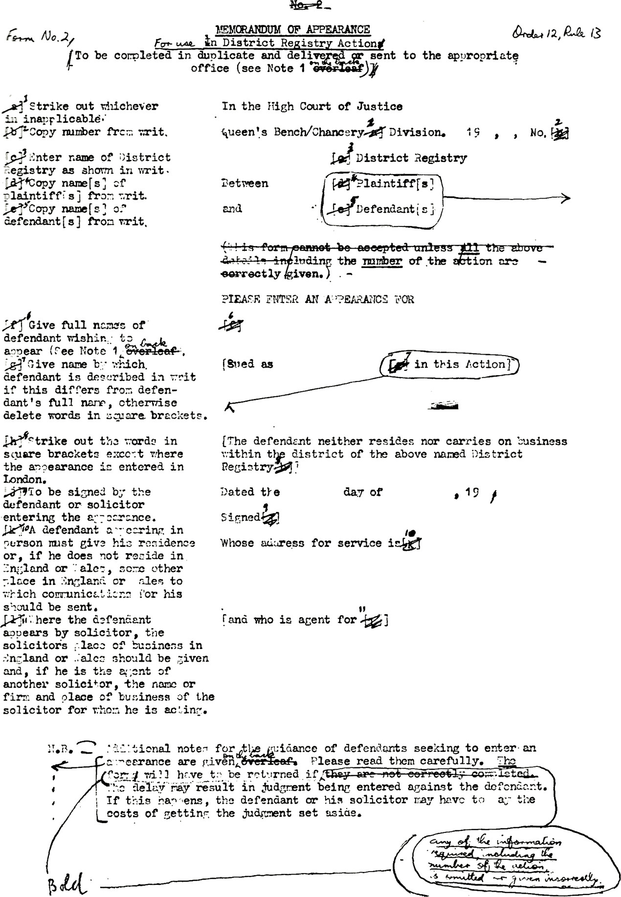 Typewritten draft with proof correction symbols to indicate formatting, many adjustments are made such as using numbers instead of alphabet for keys and moving fields for more space.