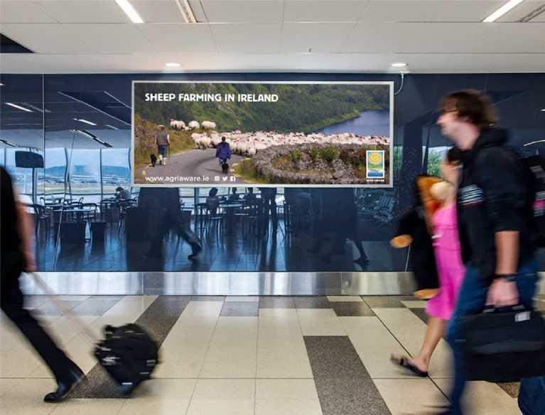 agri aware billboard advertisement in airport