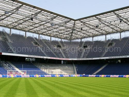 Novelty Virtual Background for Zoom inside soccer stadium at corner