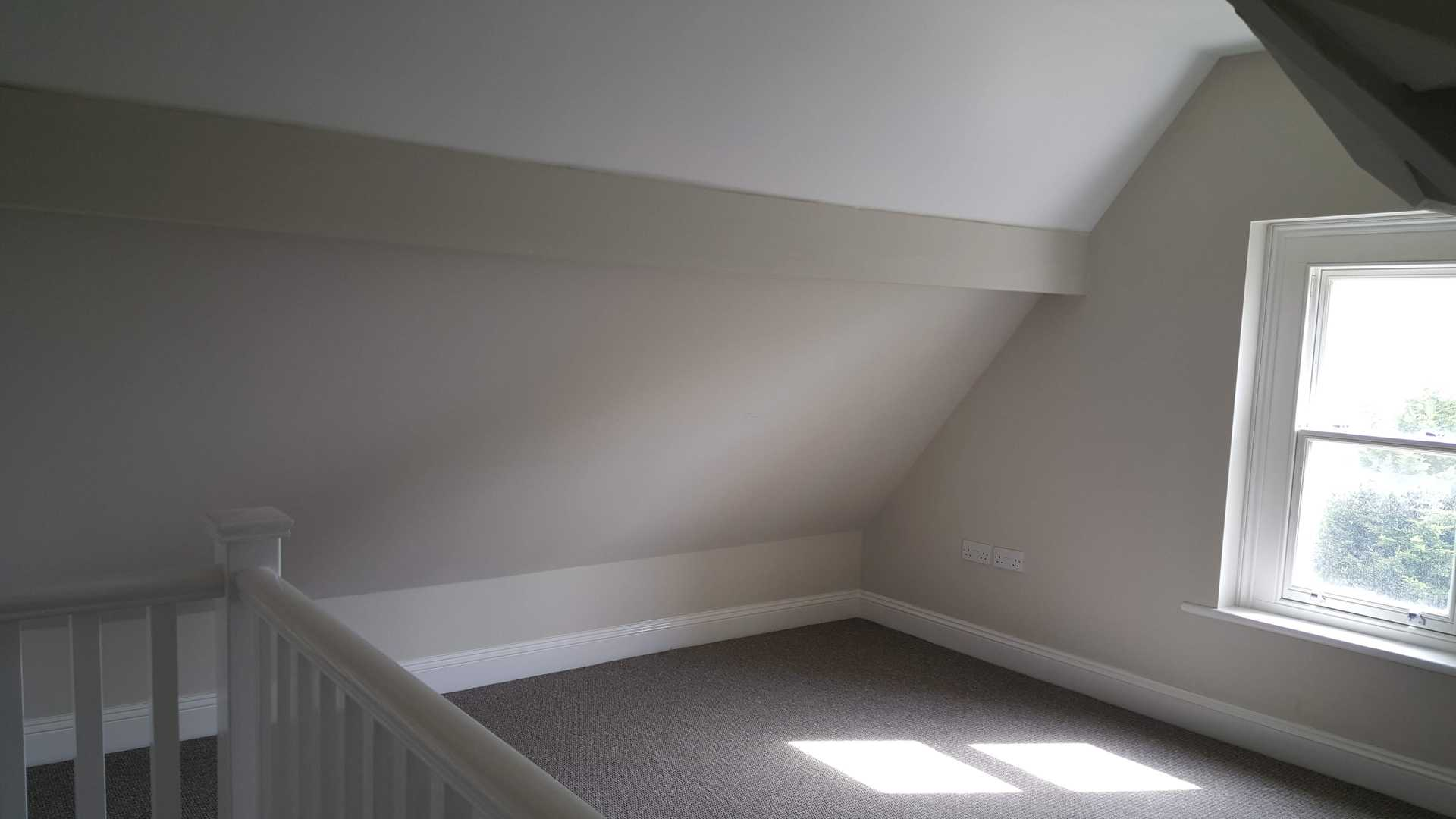 A gallery bedroom conversion that have just been refurbished for a property in Malvern