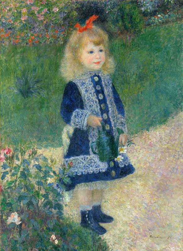 Renoir had a unique ability to capture the female face, as shown in Girl with Watering Can.