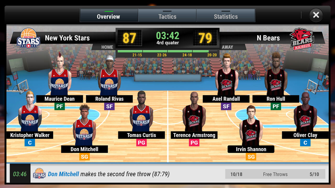 My basketball team Game