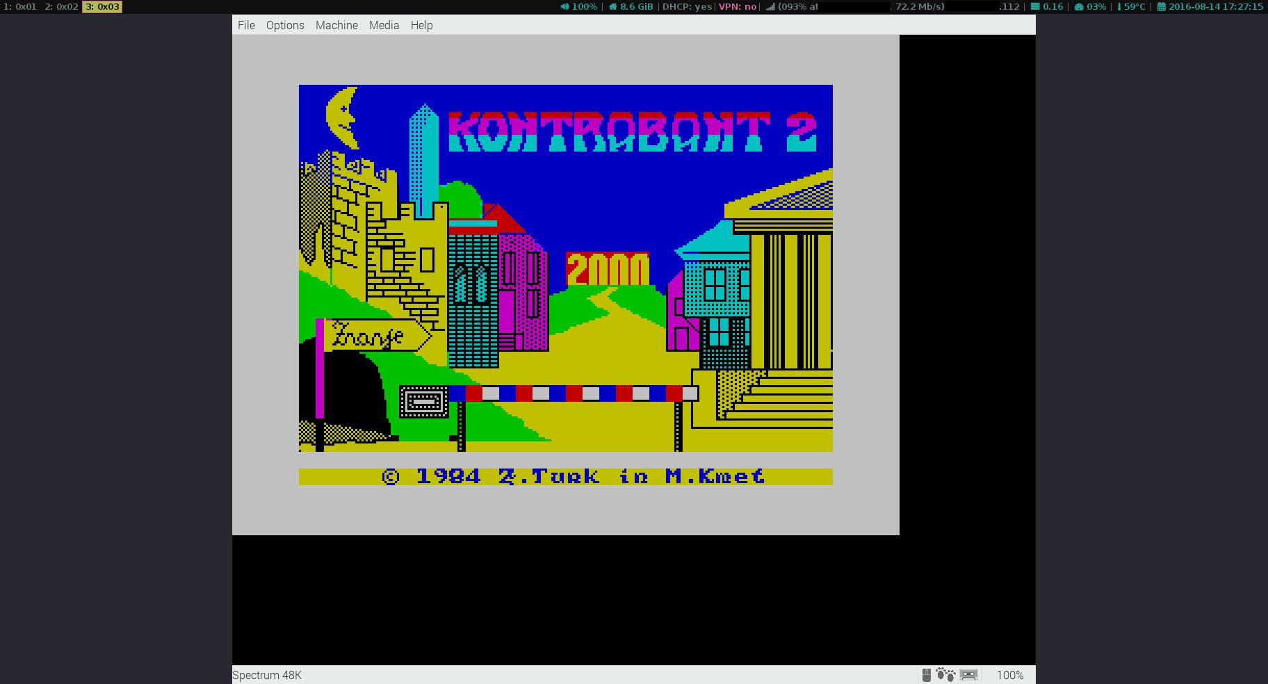 RPI3: Fuse ZX Spectrum