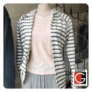 Point Zero Cozy Stripes Open Cardigan