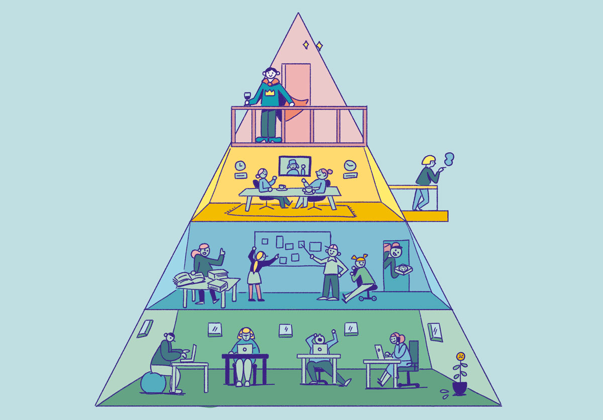 Why pyramid-organizations struggle in turbulent times