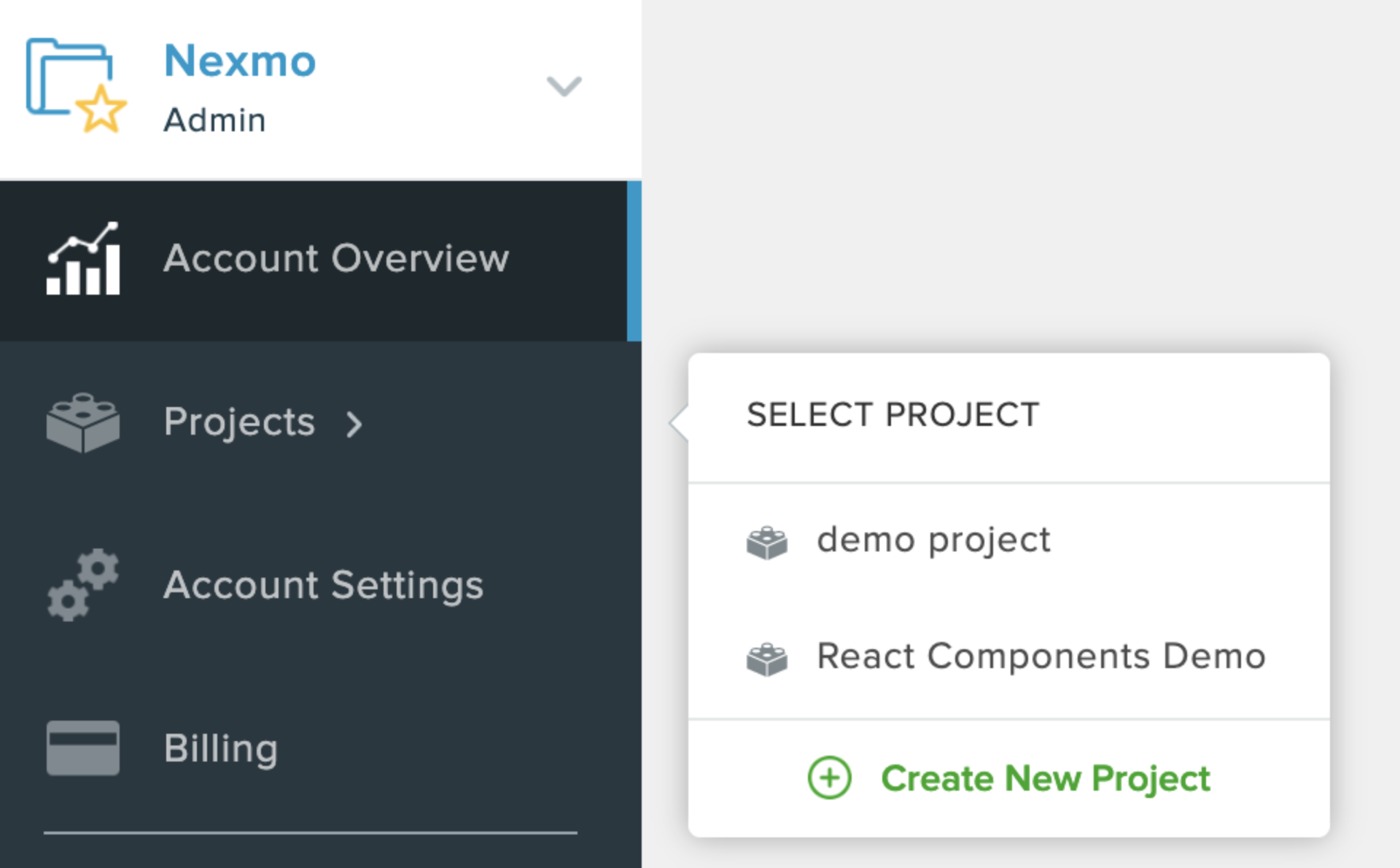 where to click new project demo