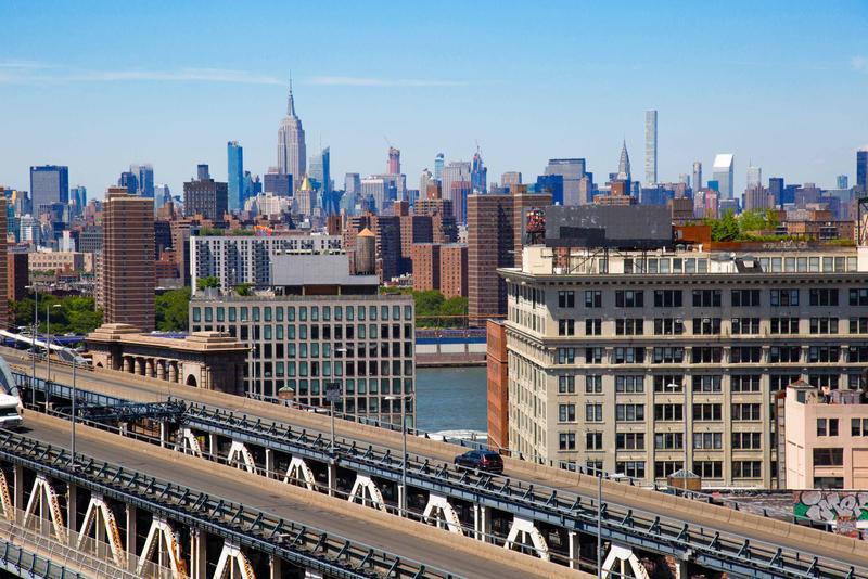 View of Manhattan from the Brooklyn Bridge