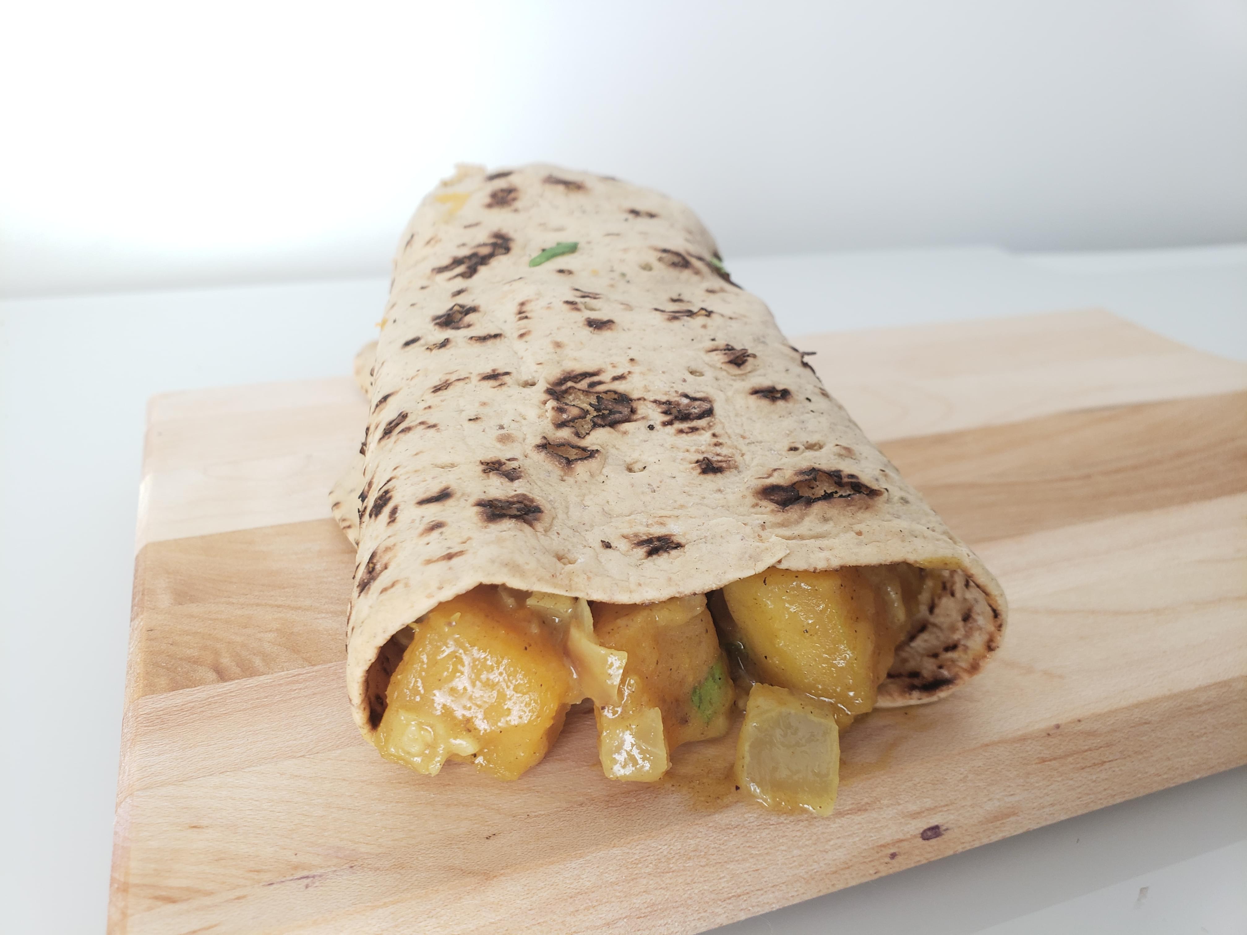 Carribean Curried Butternut Squash Roti