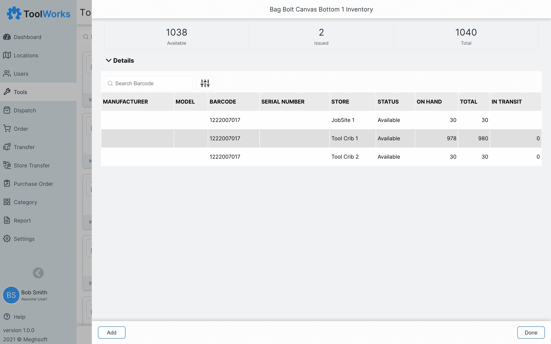 Tool Inventory