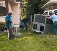 Men working outside on HVAC