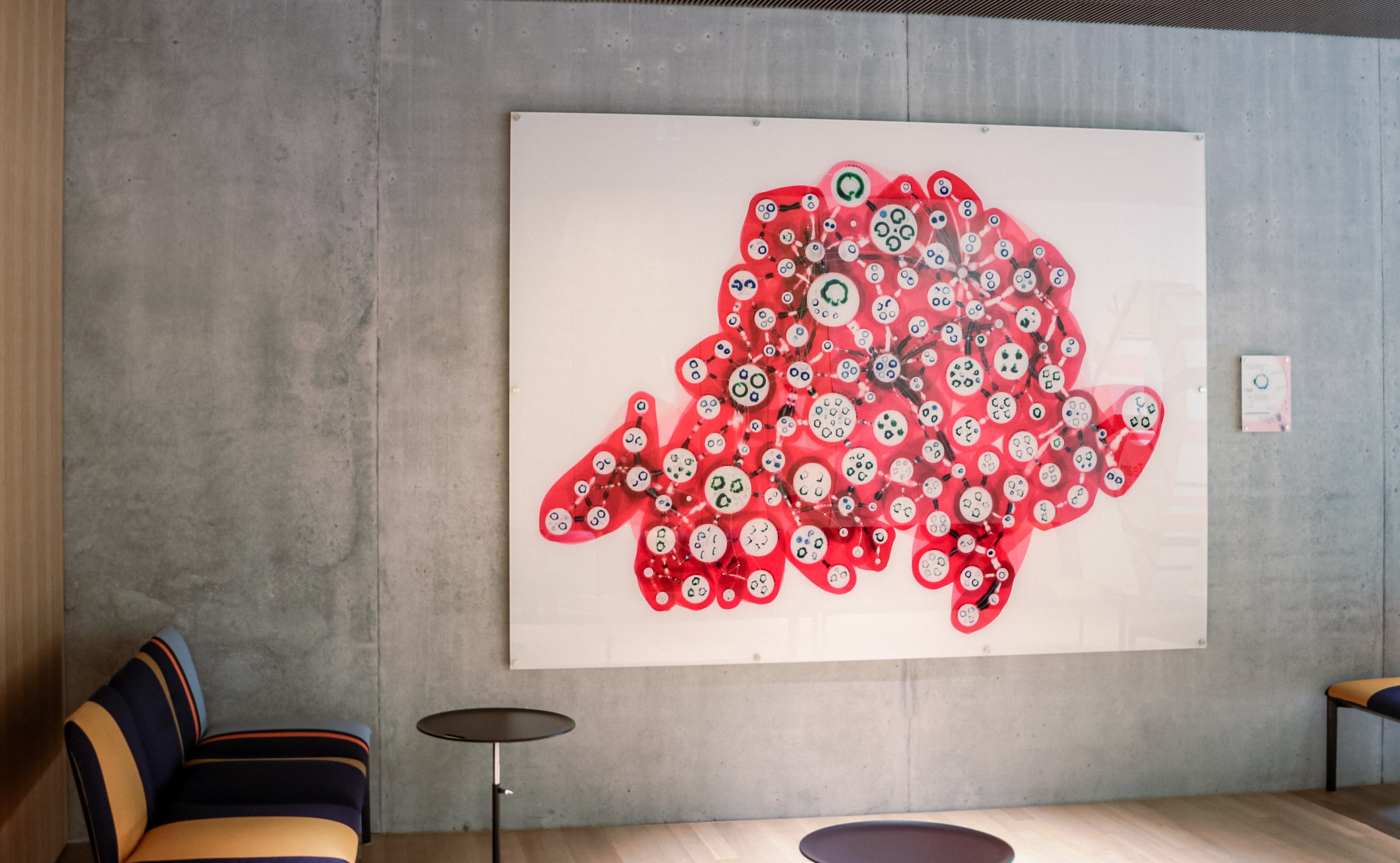 The actual printed piece in Swissgrid's lobby
