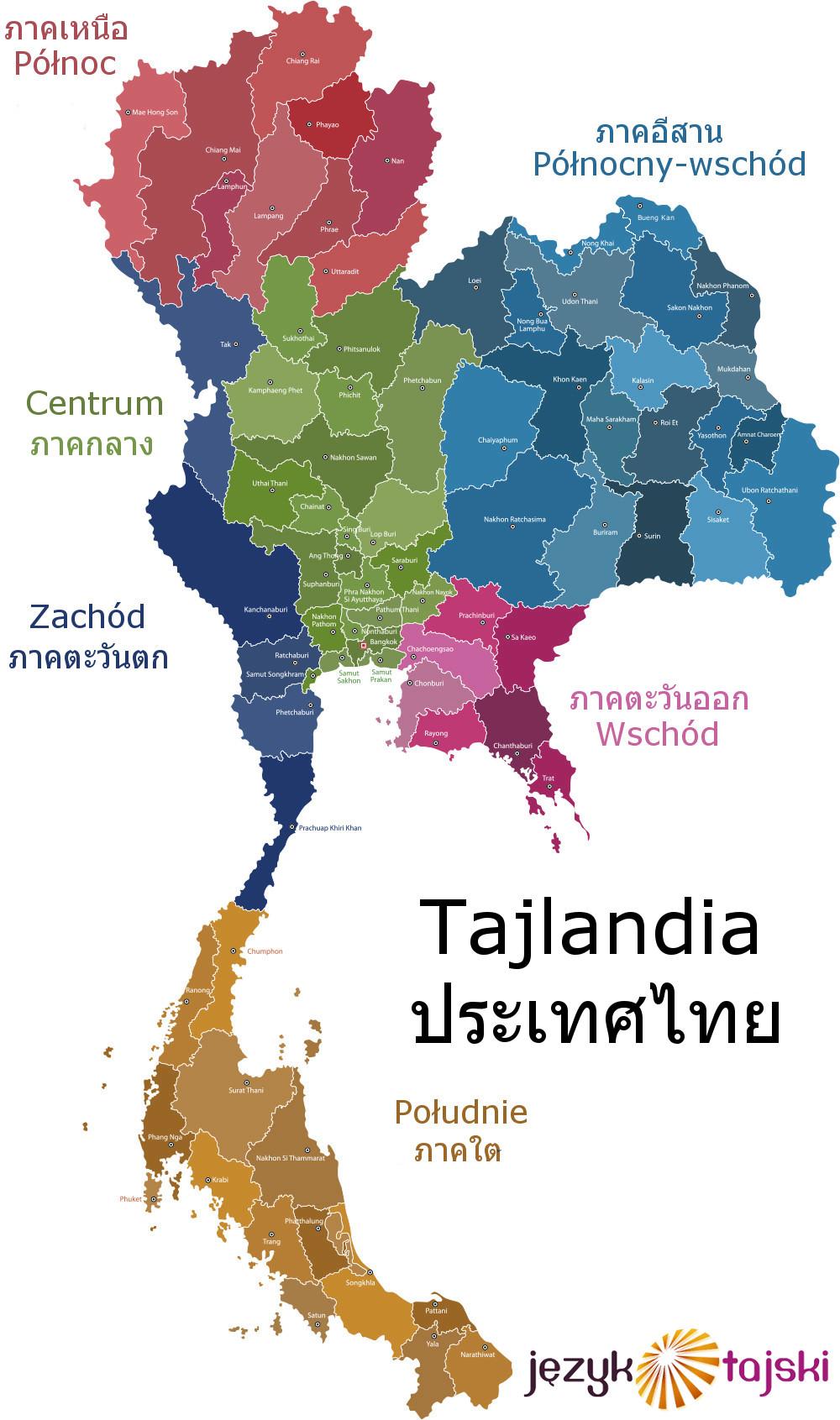 Prowincje Tajlandii