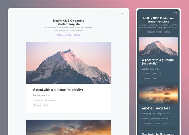 Gridsome Netlify CMS- cover