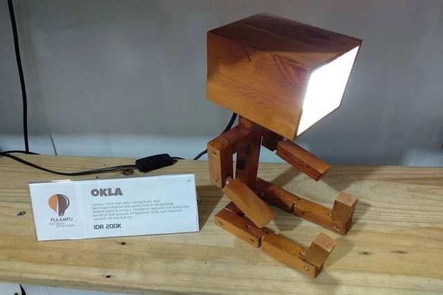 Magic Green - Cool Reclaimed Wood Lamps