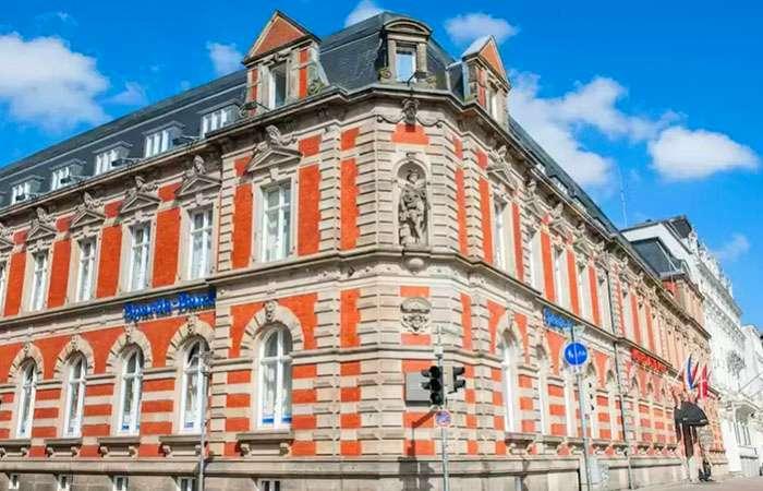 hotel alte post flensburg facaden