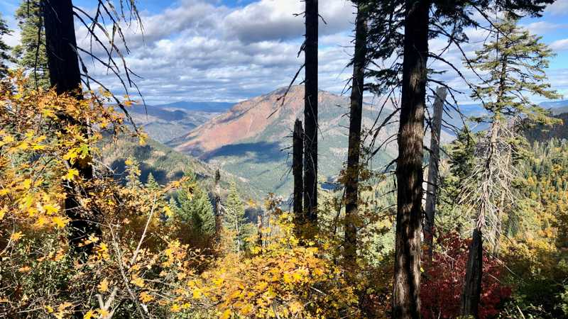 A view of Chips Creek Canyon