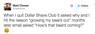 Dollar shave club tweet