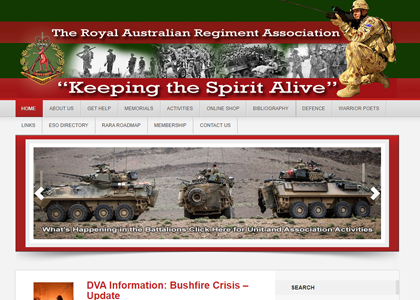 RAR National Website Screenshot