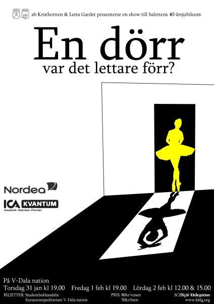 Affisch Letta Gardet 40 år