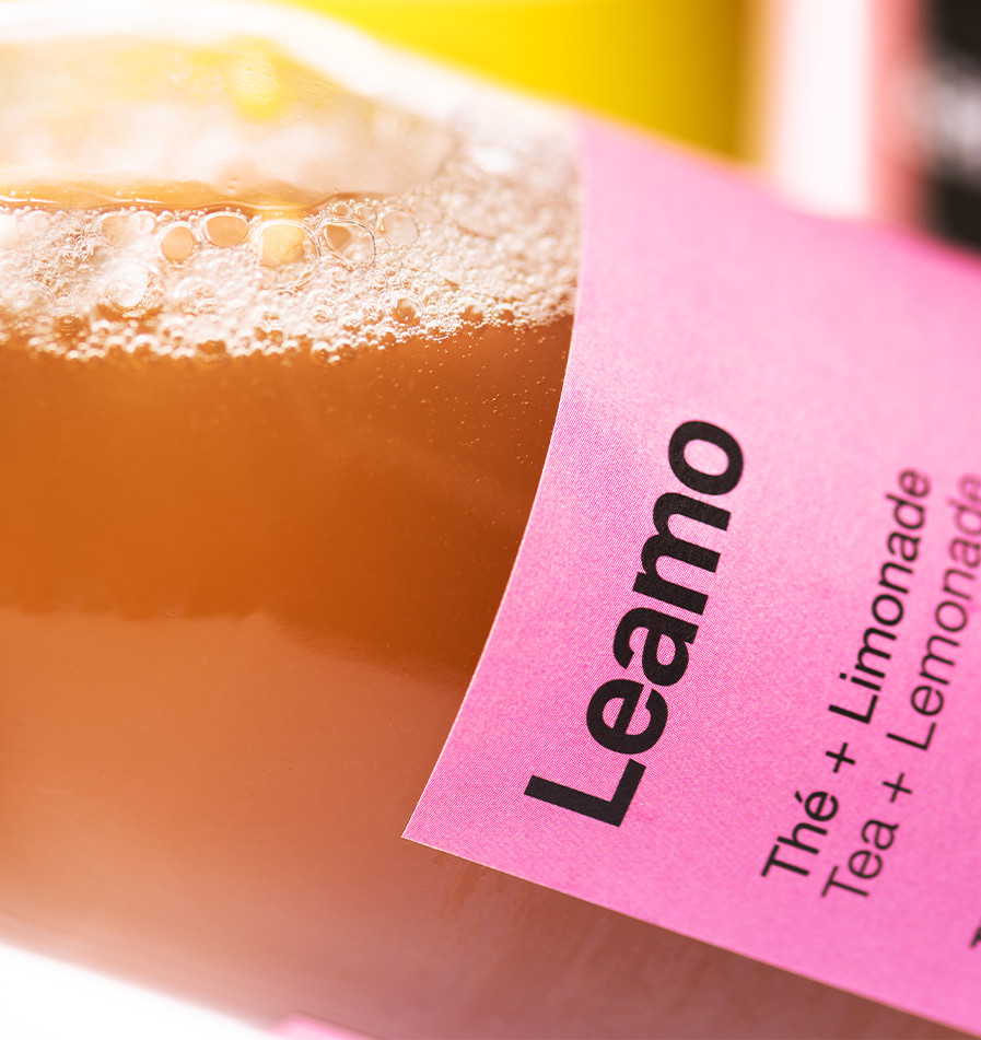 leamo organic lemonade black tea peach