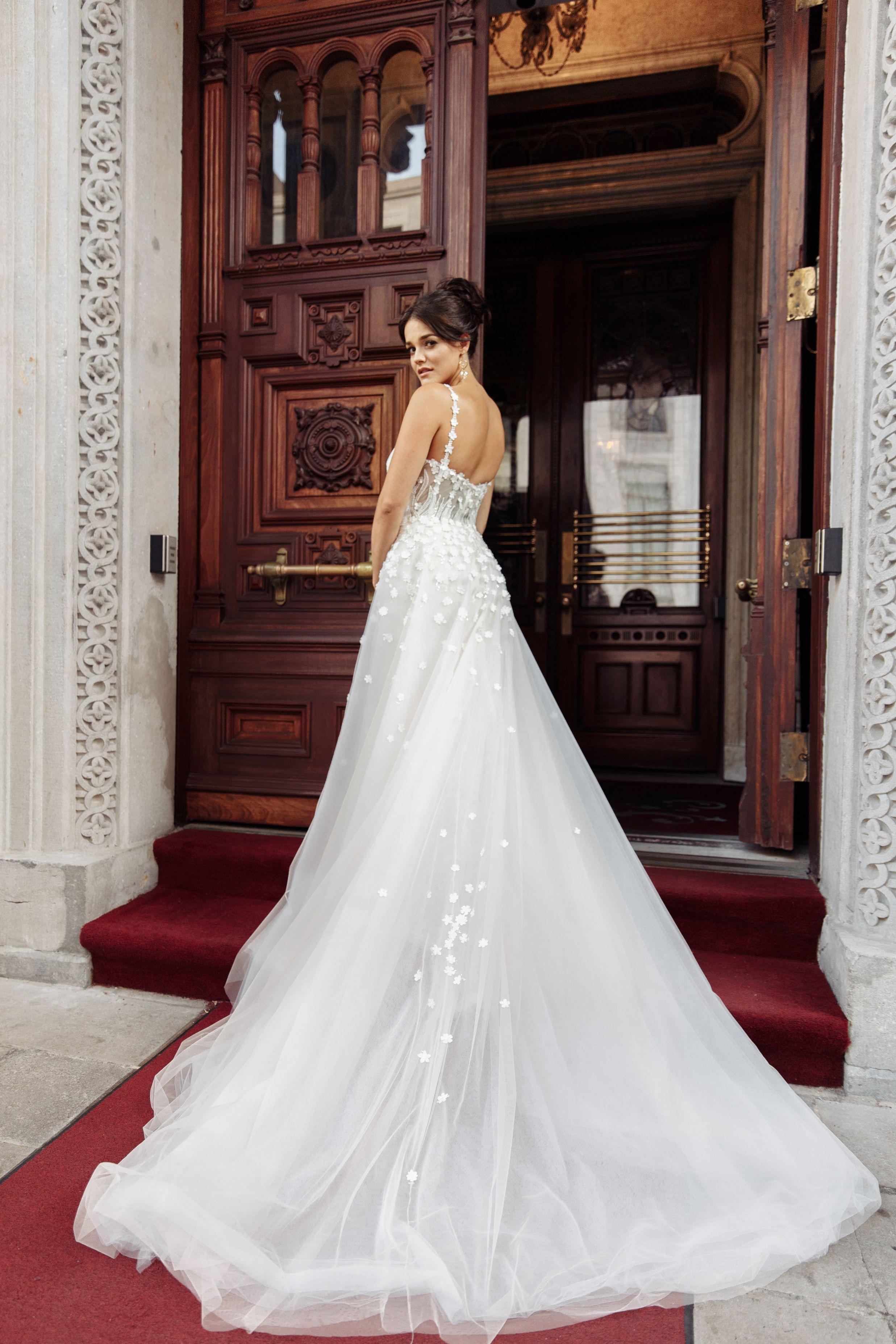 detachable skirt wedding dresses montreal lilia haute couture wedding gown designer
