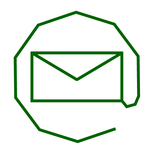 stylized email icon