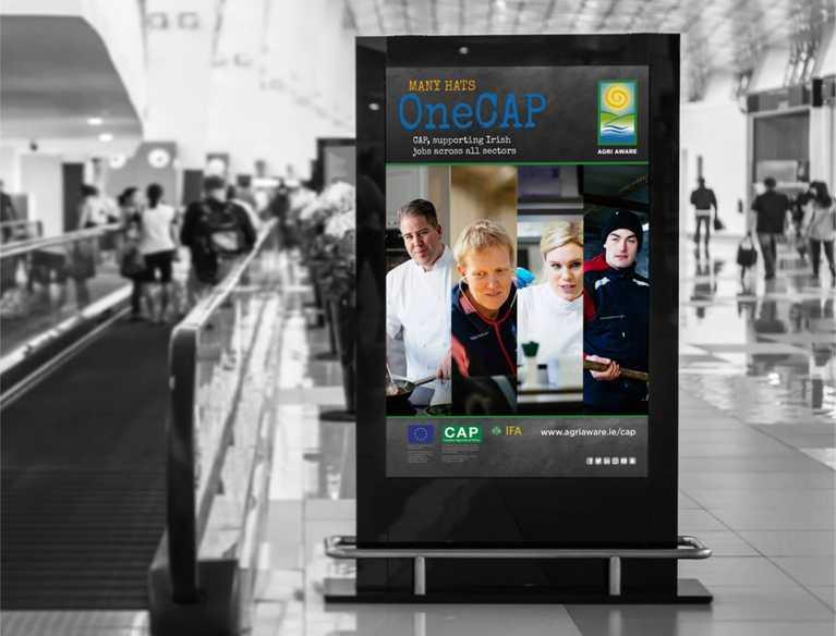 agri aware advertisement in airport